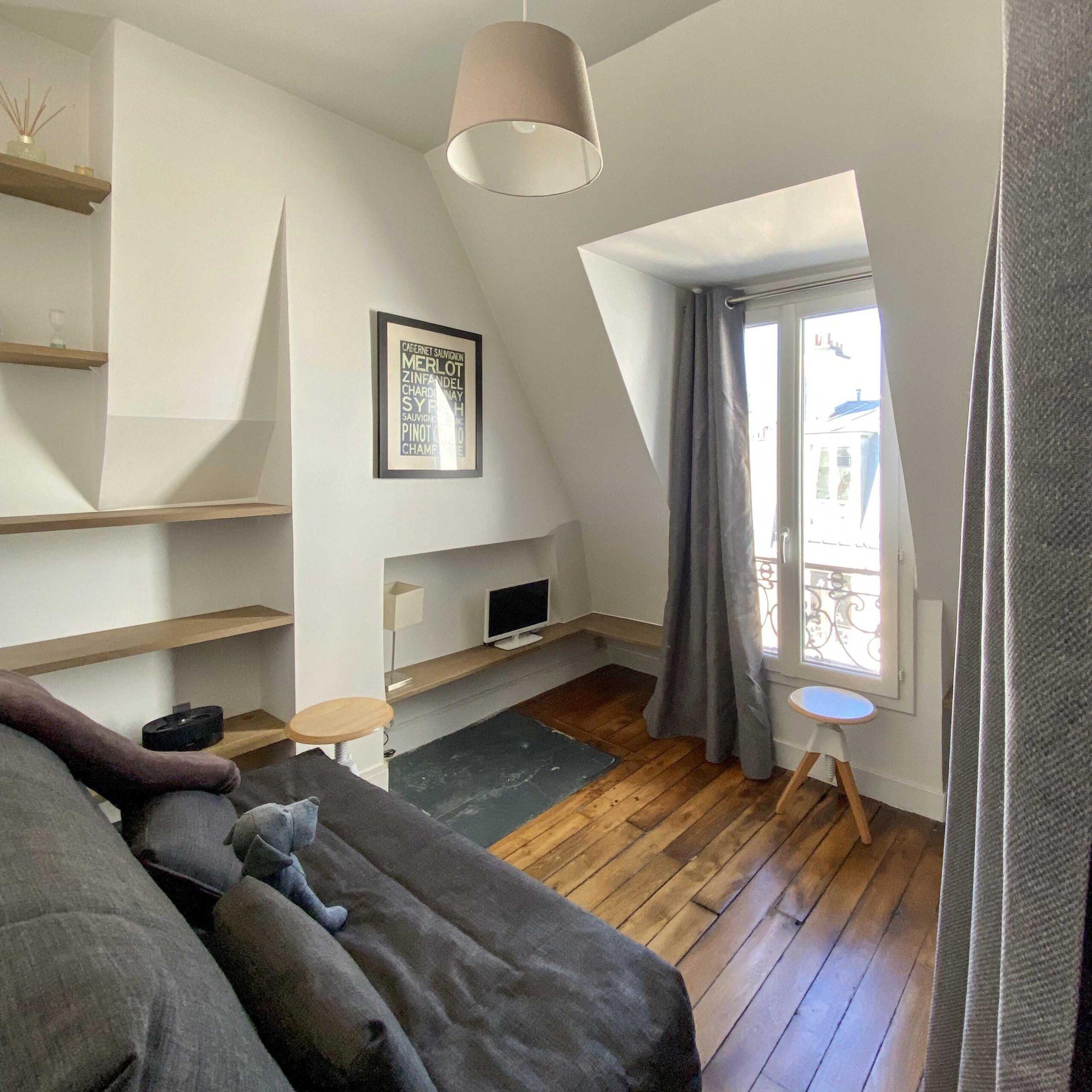 Cosy Mini Appartement Parisien Séjour